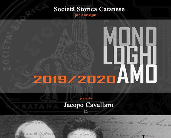 """Monologo """"Io... Martoglio"""" di Jacopo Cavallaro"""